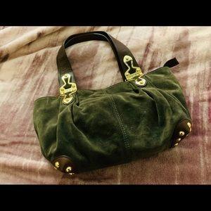 Green Suede Michael Kors bag
